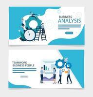conception de vecteur de statistiques d & # 39; analyse commerciale