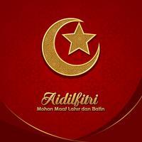 Aidilfitri Mohon Maaf Lahir vecteur de Dan Batin