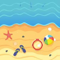 Illustration de vue aérienne de plage