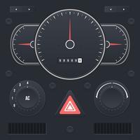 Vecteur de l'interface utilisateur du tableau de bord voiture réaliste