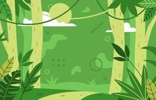 fond de paysage de forêt fraîche vecteur