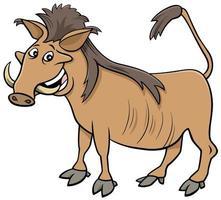 illustration de dessin animé animal sauvage africain phacochère vecteur