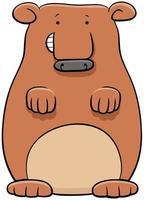illustration de dessin animé de personnage animal ours