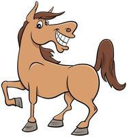 dessin animé, cheval, ferme, animal, caractère vecteur