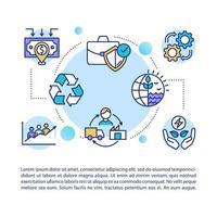 icône de concept de chaîne d'approvisionnement avec texte vecteur