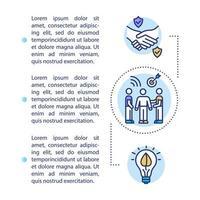 icône de concept de transaction professionnelle avec texte