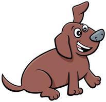 dessin animé ludique chiot personnage animal comique vecteur