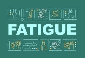 bannière de concepts de mot fatigue