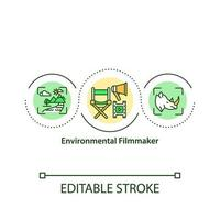 icône de concept de cinéaste environnemental