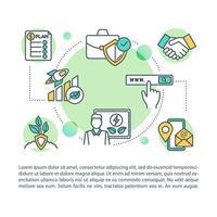 icône de concept de réduction des coûts avec texte. modèle de vecteur de page ppt