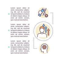 icône de concept de biotechnologie avec texte