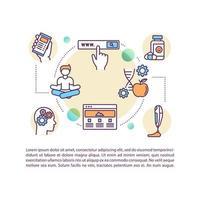 icône de concept de techniques de biohacking avec texte