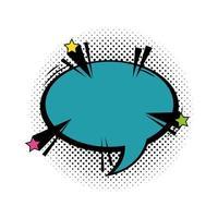 bulle de dialogue style pop art de couleur bleue