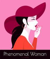 Journée internationale de la femme Pop Art Poster Vector