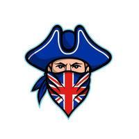 Bandana britannique portant la mascotte de bandana vecteur