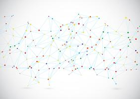 Contexte de la technologie moderne avec des lignes et des points de connexion vecteur