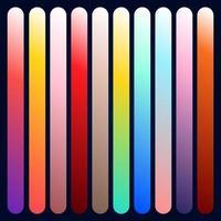 dégradé moderne serti de fond abstrait carré couleur tendance. couverture fluide colorée pour affiche, bannière, flyer. dégradé moderne serti d & # 39; abstrait carré vecteur