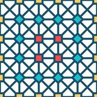 modèle sans couture de vecteur ornement. texture élégante et moderne. répétition de la grille carrée géométrique. conception graphique simple. géométrie sacrée hipster à la mode