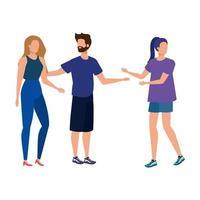 groupe de personnages avatars de personnes