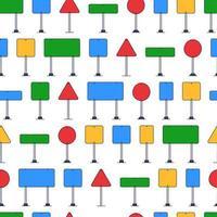 modèle de panneau routier, style cartoon. modèle de panneau routier. illustration de dessin animé du modèle de vecteur de panneau de signalisation pour le web