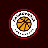 typographie professionnelle moderne basketball sport emblème de vecteur de style rétro et création de logo de modèle. Salutations drôles pour vêtements, carte, insigne, icône, carte postale, bannière, étiquette, autocollants, impression