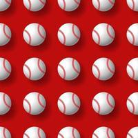 Baseball transparente motif balle de tennis vecteur tuile fond papier peint écharpe graphique isolé