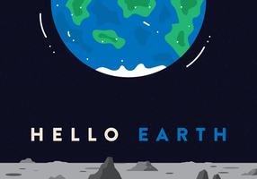 Vecteur de carte postale de l'espace