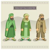 Personnages masculins du Moyen-Orient vecteur