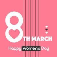 Vecteur de jour de typographie Happy Women's