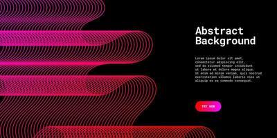 fond abstrait moderne avec des lignes ondulées en violet et rouge vecteur