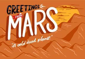 Carte postale de Mars vecteur