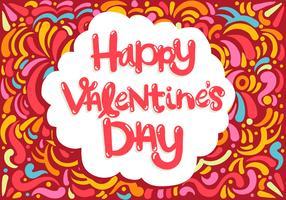 Joyeux lettrage de la Saint-Valentin vecteur