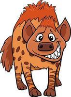 dessin animé, hyène, animal sauvage, caractère vecteur