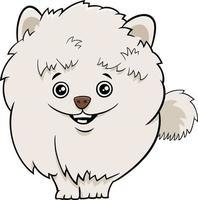 illustration de dessin animé de chien ou chiot poméranien vecteur