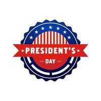 vecteur de conception d'insigne d'étiquette de jour du président isolé sur fond blanc