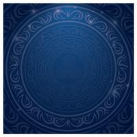 Frontière islamique bleue vecteur