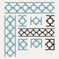 Frontière islamique modifiable Seamless Pattern vecteur