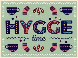 Affiche de temps de Hygge vecteur