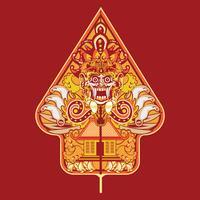 Illustration vectorielle Wayang Gunungan d'Indonésie vecteur