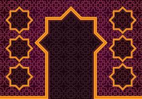 Contexte de la frontière islamique vecteur