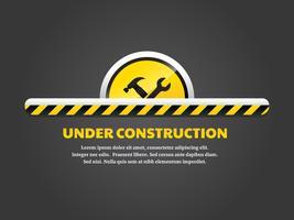 En construction landing page vecteur