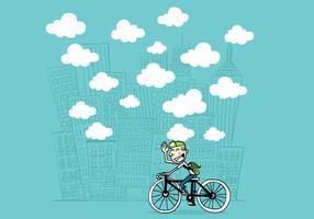 mec en vélo vecteur