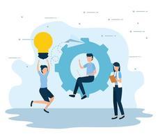conception de vecteur de travail d'équipe et de gens d'affaires