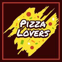 Pizza Lovers Typographie vecteur