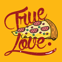 Pizza True Love vecteur