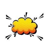 icône de style pop art nuage