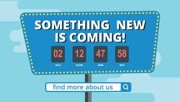 Site Web sous Construction Landing Page Concept de panneau d'affichage Billboard vecteur