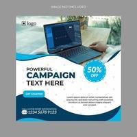 bannière de médias sociaux pour le marketing numérique vecteur