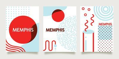 Modèle de fond de Memphis sur papier vecteur