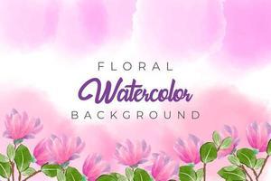 fond aquarelle rose avec concept floral